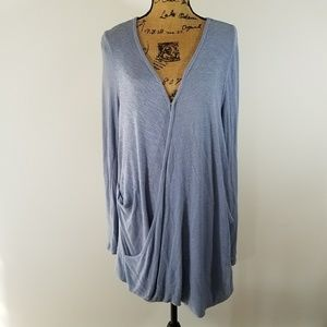 We the Free Periwinkle Blue Faux Wrap Tunic Top